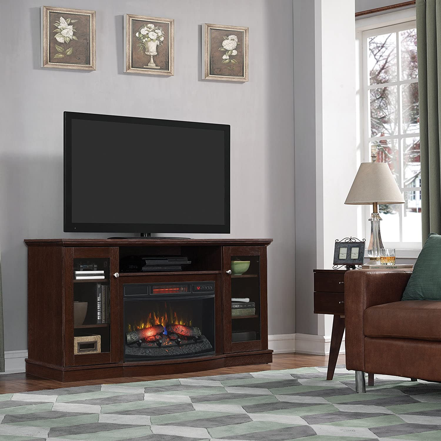 Buy ChimneyFree Walker Infrared Electric Fireplace Entertainment Center in Espresso: Television Stands & Entertainment Centers - Amazon.com ? FREE DELIVERY possible on eligible purchases