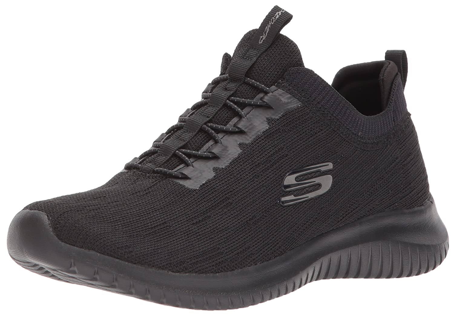 Skechers Women's Ultra Flex Bright Horizon Sneaker B074BZ5DD9 7 B(M) US|Black/Black