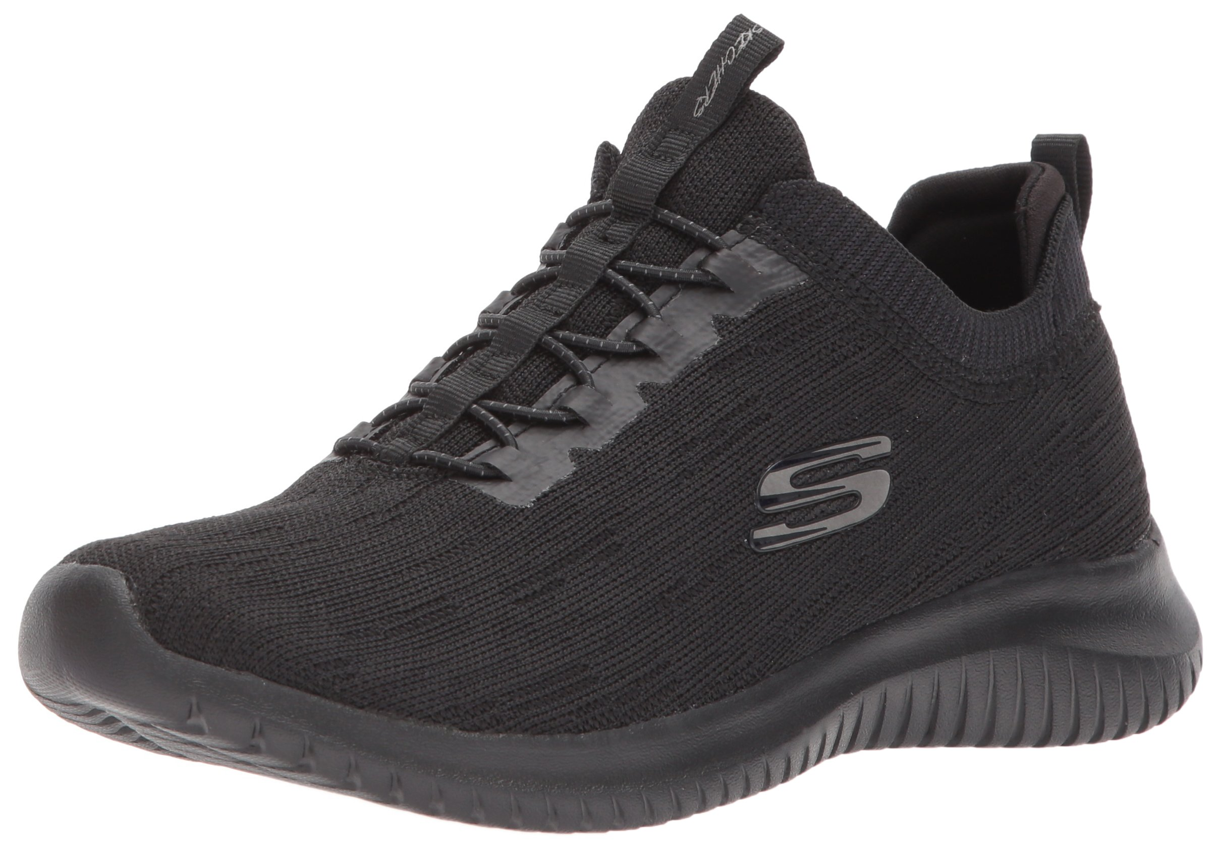 Skechers Sport Women's Ultra Flex Bright Horizon Sneaker,8 B(M) US,Black/Black