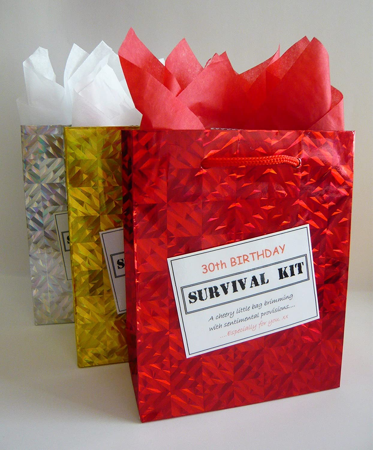 30th Birthday Survival Kit. For Male. Fun Gift Idea. Novelty Present. For Him.: Amazon.co.uk: Office Products