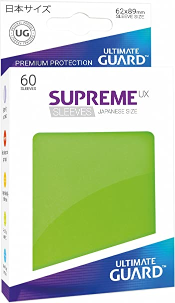 Ultimate Guard SUPREME UX Japanese Size Card Sleeves 60 LIGHT GREEN