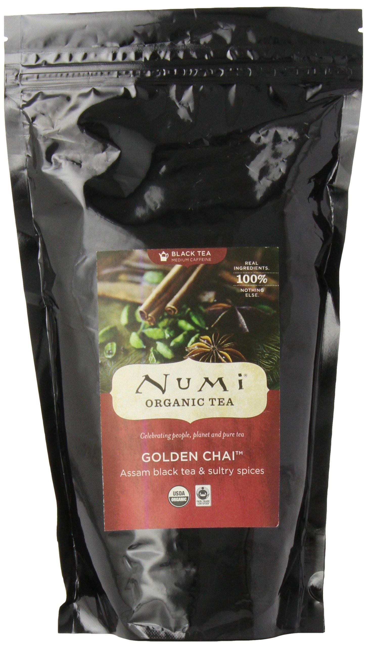 Numi Organic Tea Golden Chai, 16 Ounce Pouch (Pack of 6), Loose Leaf Black Tea