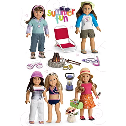 Amazon Com American Girl Crafts Summer Fun Doll Stacked Stickers