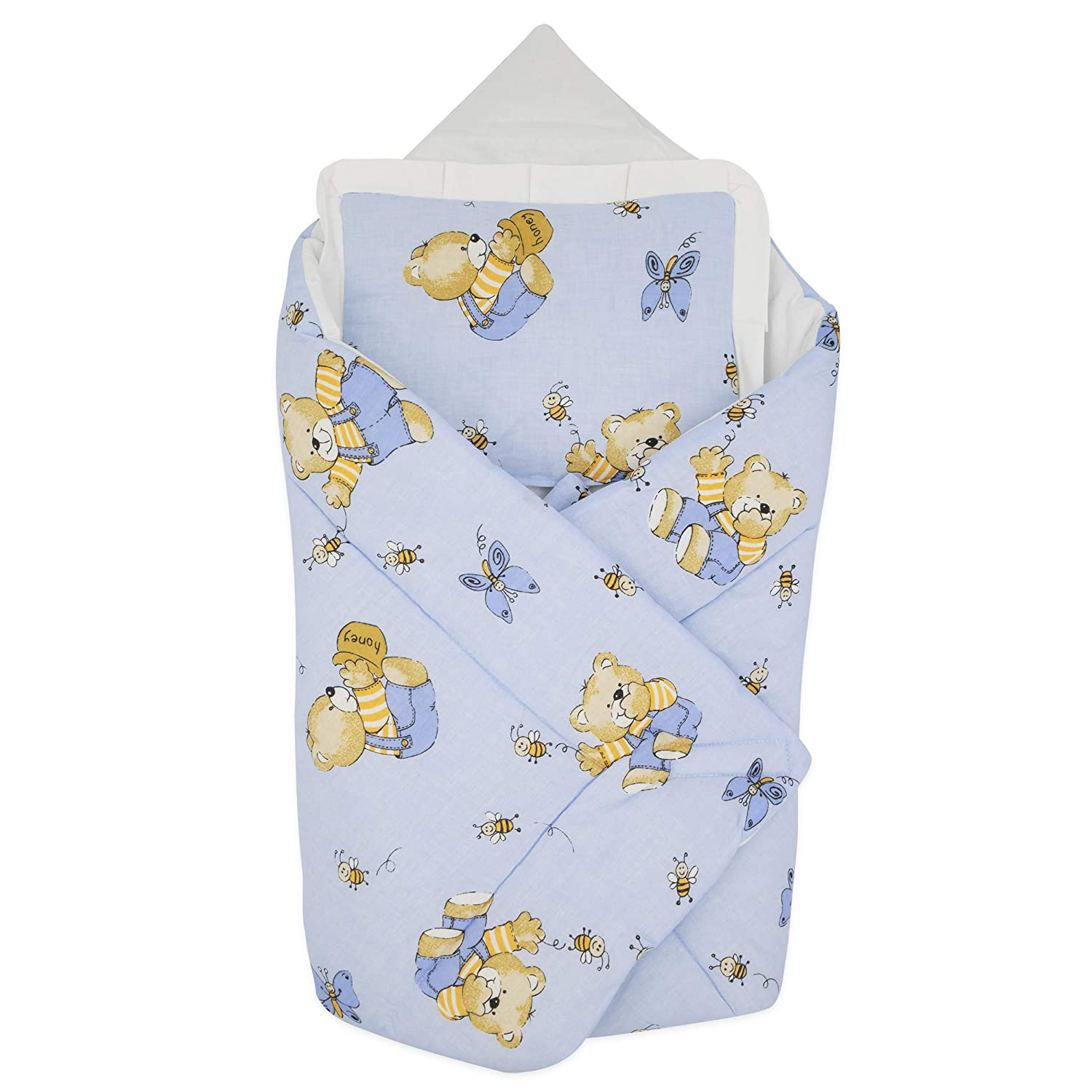 BlueberryShop Cotton Baby Swaddle Wrap Bedding Blanket with Pillow   Sleeping Bag for Newborns   Intended for Kids Aged 0-3 Months   Perfect as a Baby Shower Gift   78 x 78 cm   Grey Unicorn