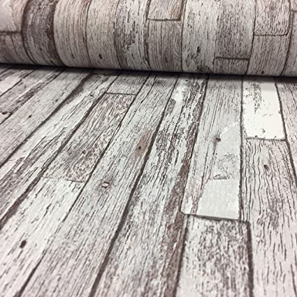 5937 10 Wood Panel Grey Silver Shabby Chic Rustic