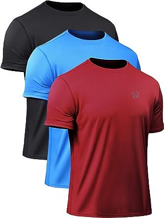 e75451f6994 Neleus Men s Lightweight Running Workout Shirts Short Sleeve ...