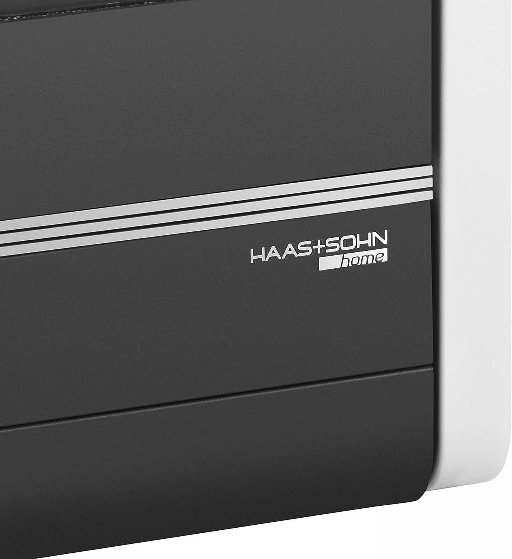 Haas Sohn 04 346 15 10 Haas+Sohn Aqua Trento easy wasserf/ührender Kaminofen perl-anthrazit Woodstone//A+