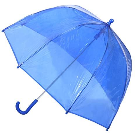 10010100905c1 Amazon.com  Kids Clear Bubble Umbrella by totes (Blue)  Clothing