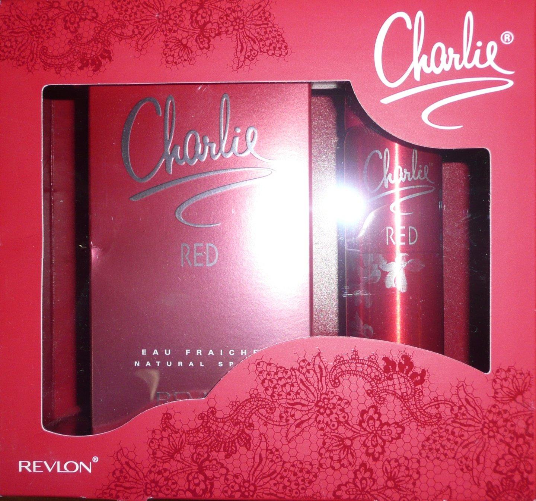 Charlie Red Eau Fraiche Gift Set (100ml EDT + 75ml Body spray) For Women