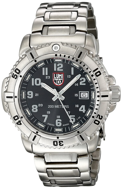 Luminox Women s 7252 Quartz Stainless Steel Black Dial Watch