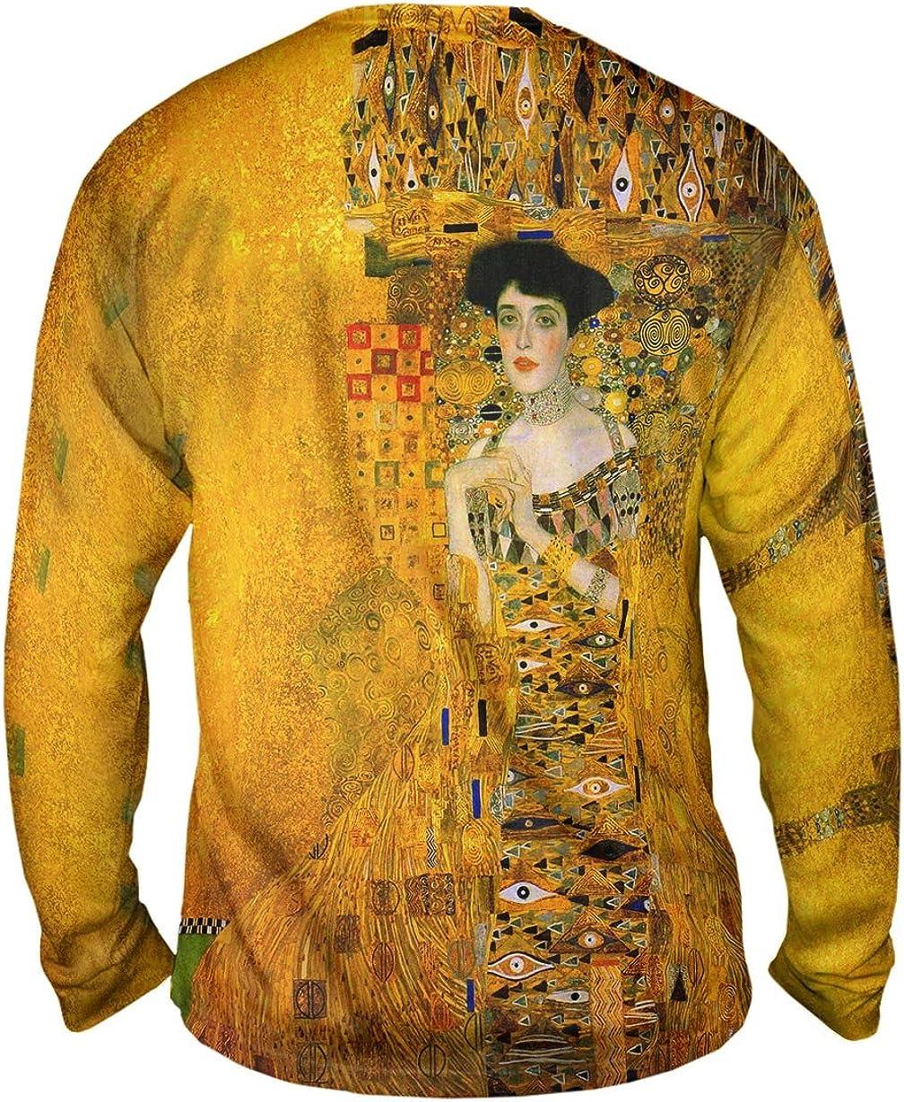 Yizzam Gustav Klimt Mens Long Sleeve 1472 Portrait of Adele Bl