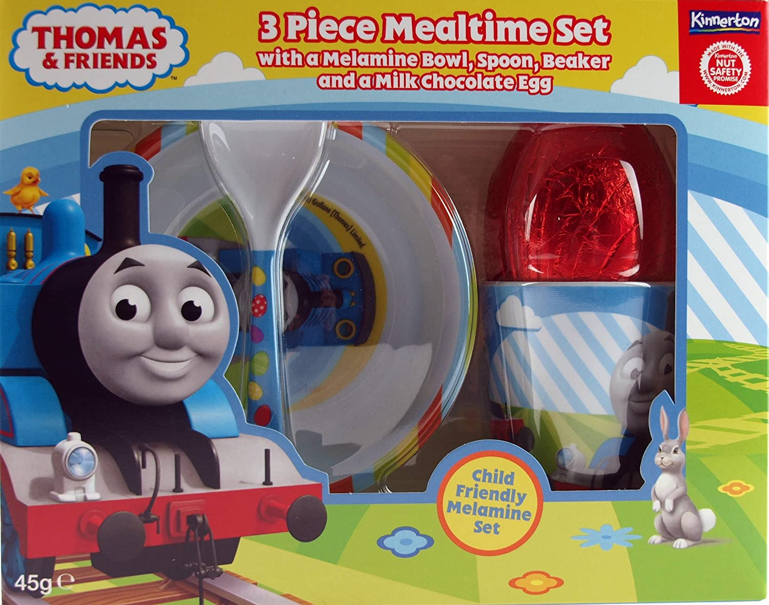 Thomas the tank engine chocolate easter egg breakfast gift set thomas the tank engine chocolate easter egg breakfast gift set bowl cup spoon amazon kitchen home negle Image collections
