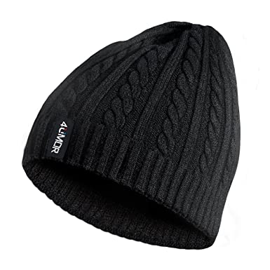 438a34ed545 4UMOR Beanie Knit Hats Double-Deck Winter Warm Outdoor