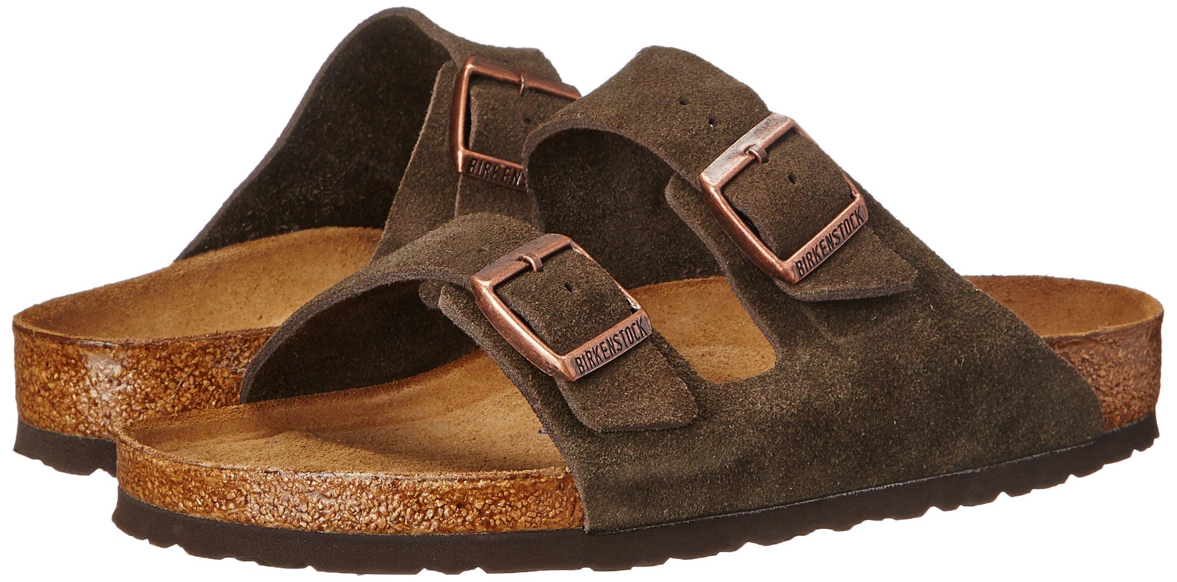 Birkenstock Unisex Arizona Mocha Suede Sandals - 35 N EU / 4-4.5 2A(N) US by Birkenstock (Image #6)
