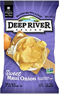 product image for Deep River Snacks Sweet Maui Onion Kettle Cooked Potato Chips, 2-Ounce (Pack of 24)