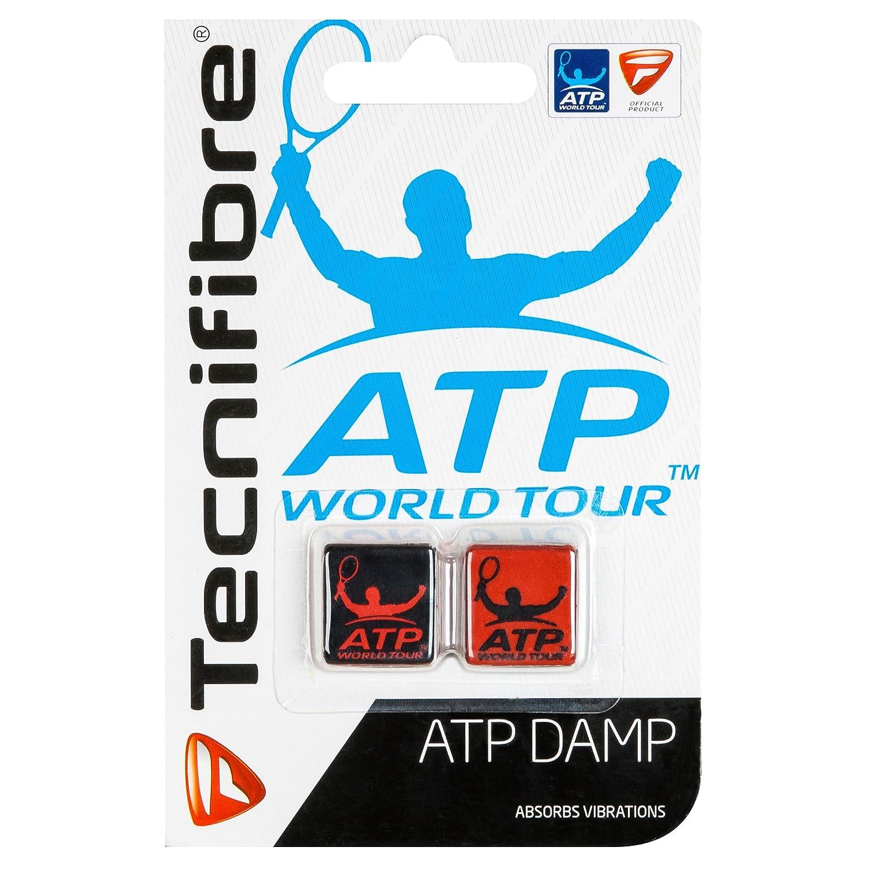 Black Red 2 Pack Tecnifibre ATP Damp Tennis Racket Dampeners
