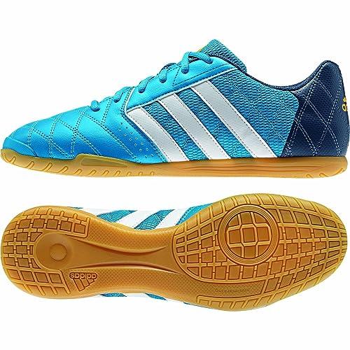 adidas Super Sala, Zapatilla de fútbol Sala, Solar Blue-Blanca, Talla 9