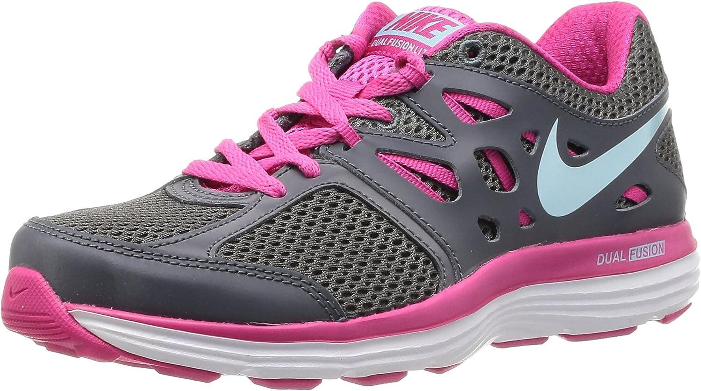 NIKE Dual Fusion Lite, Zapatillas de Running para Mujer, Gris-Grau (Drk Grey/GLCR IC-Vvd Pnk-White), 38 EU: Amazon.es: Zapatos y complementos