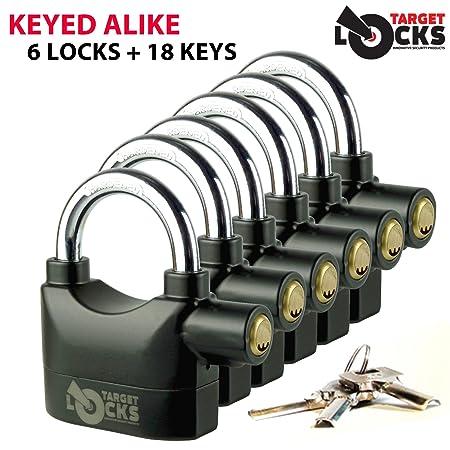 Objetivo TL021 llave jadella - 6 alarma activada candados + candados llaves 18/una llave para: Amazon.es: Bricolaje y herramientas