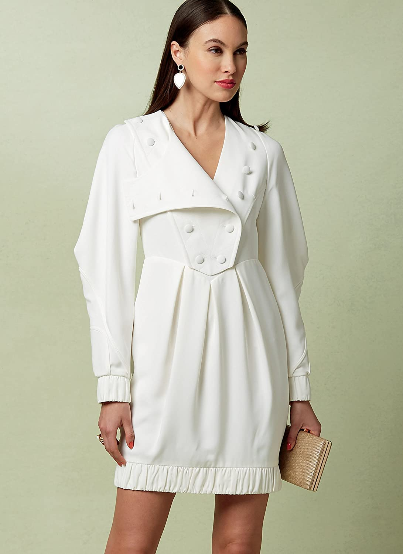 Vogue patrones de costura para vestido de ajuste de rayas ...