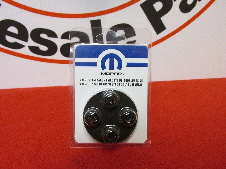 Dodge Challenger hellcat tire valve stem caps Black w/ hellcat Logo OEM MOPAR 82214911
