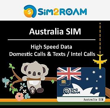 Tarjeta SIM prepaga de Australia 28 días llamadas ilimitadas ...