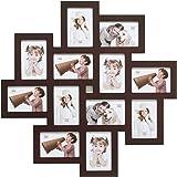 Deknudt Frames S65SV3 Cadre Multi Photos 12 Ouvertures Brun 10 X 15 cm