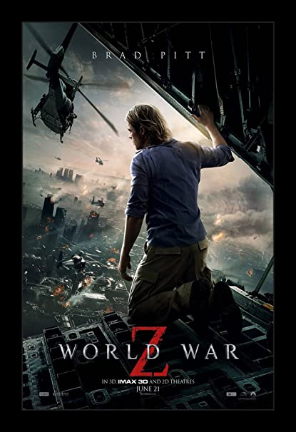 Amazon com: World War Z - 11x17 Framed Movie Poster by