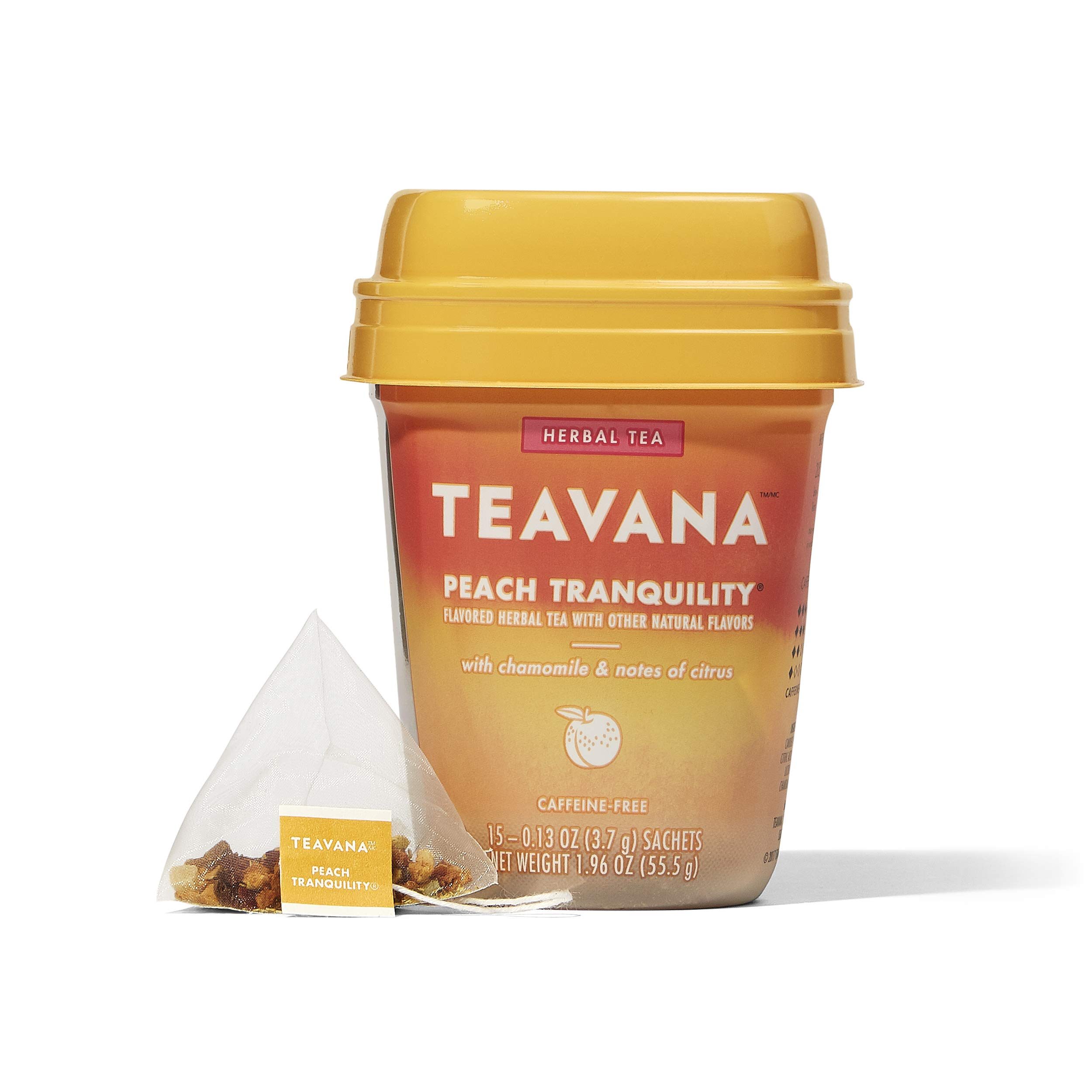 Teavana Peach Tranquility, Herbal Tea With Chamomile and Notes of Citrus, 60 Count (4 packs of 15 sachets) by Teavana