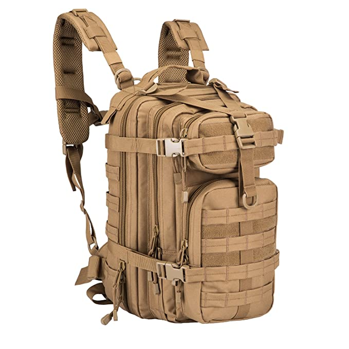 Military Tactical Backpack, Small 3 Day Army Molle Assault Rucksack Pack Outdoors, Hiking, Camping, Trekking, Bug Out Bag & Travel