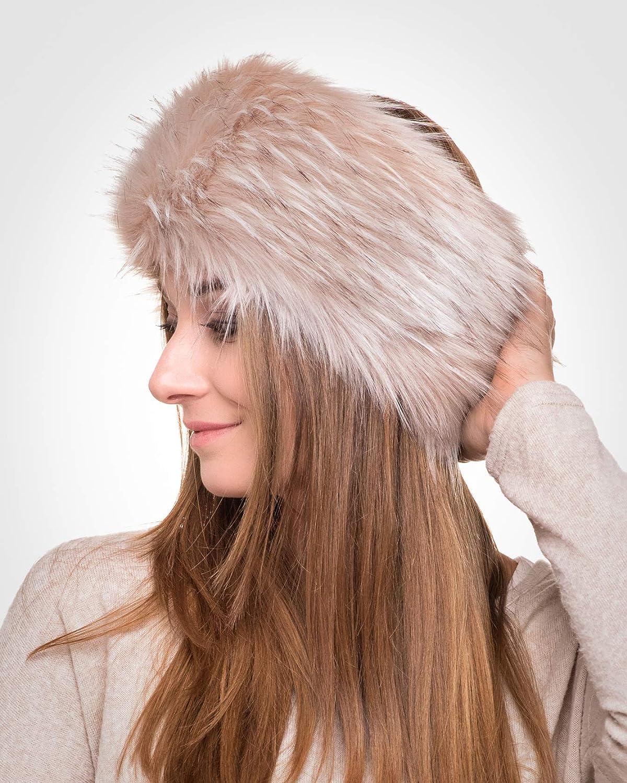 Like Real Fur Fancy Ear Warmer Futrzane Winter Faux Fur Headband for Women