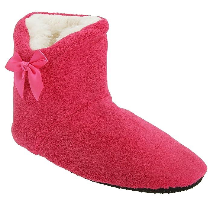 Zapatillas/Botas de Estar por casa Suaves con Detalle de Lazo (36-41 EU/Azul Marino): Amazon.es: Zapatos y complementos