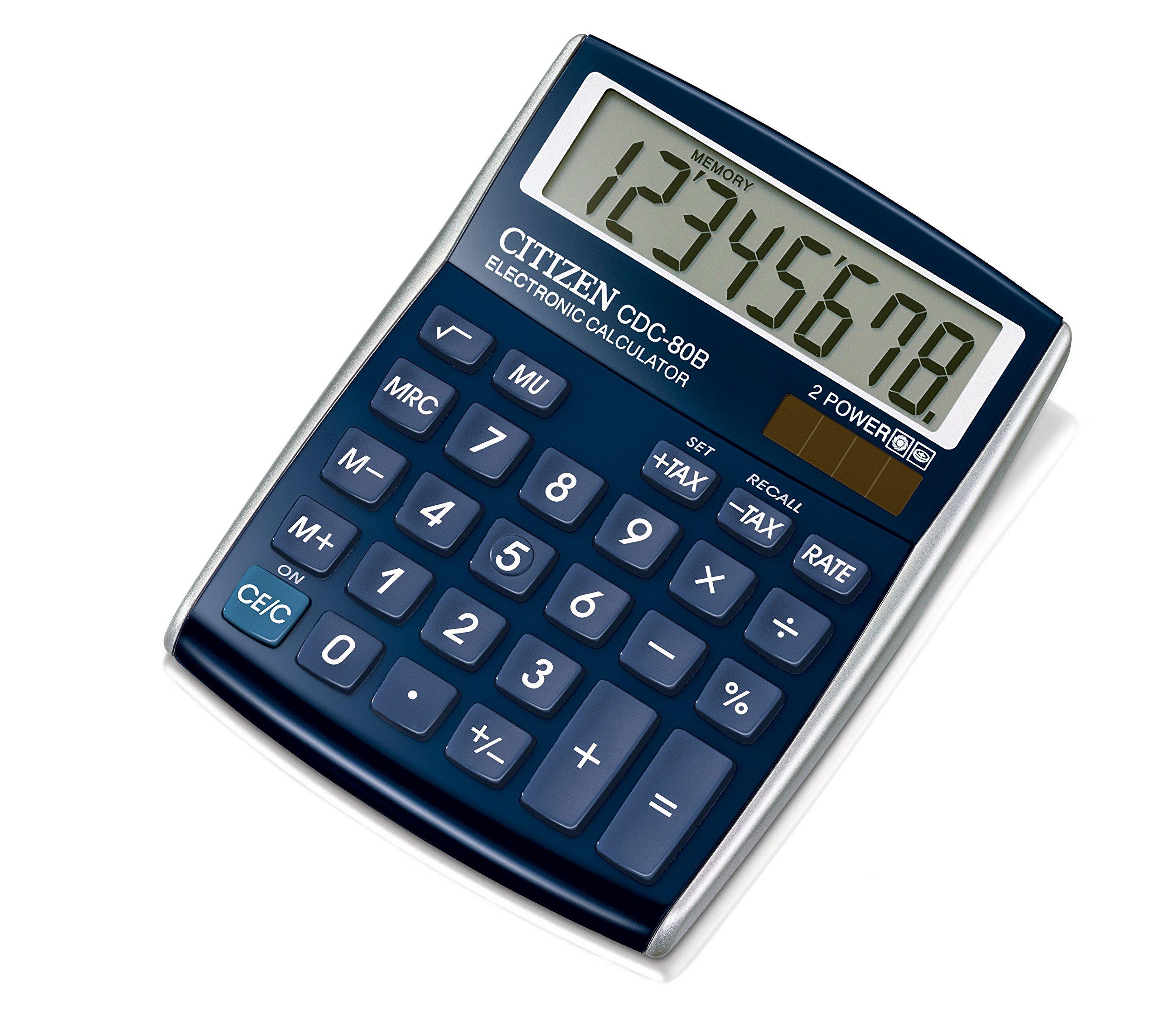CITIZEN CDC80 Designline 108 x 135 x 24 mm Desktop Calculator - Blue