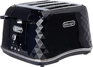 De'Longhi Brillante Exclusive, 4 Slice Toaster, CTJX4003BK, Black