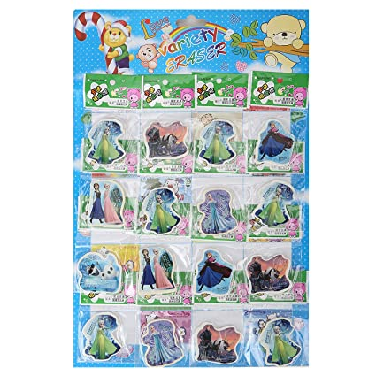 Asera 24 Pcs Frozen Shape Fancy Erasers For Kids Gift Options Birthday Return Gifts