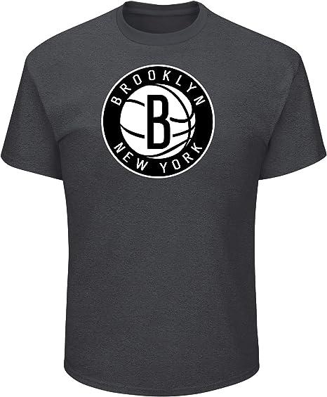Black Profile Big /& Tall NBA Brooklyn Nets Short Sleeve Screen Tee 3X