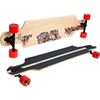 Hudora 12806 Longboard Multicolor monopatín - Monopatines (Longboard
