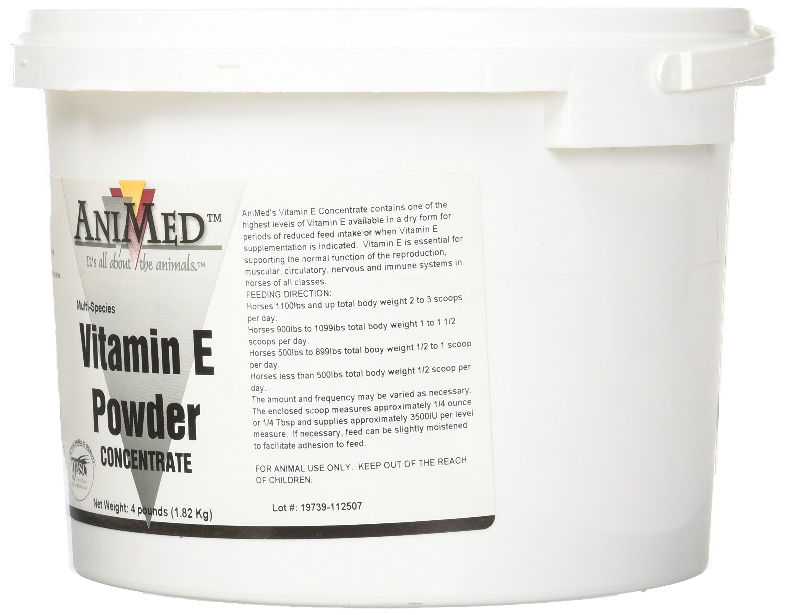AniMed Vitamin E Concentrate Supplement for Horses, 4-Pound by AniMed (Image #4)