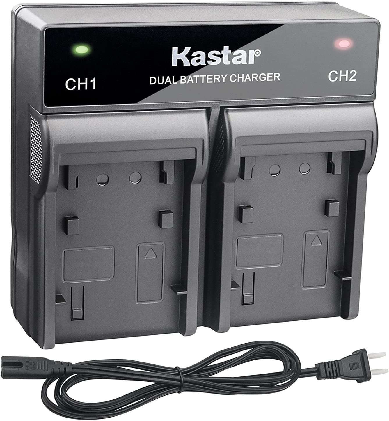 Kastar Fast Dual Charger for Sony NP-F970 NP-F975 NP-F960 NP-F950 NP-F930 NP-F770 NP-F750 NP-F730 NP-F570 NP-F550 NP-F530 NP-F330 and 308C TTV-204 Pad-22 LED Video Light or Moniter Backup Battery