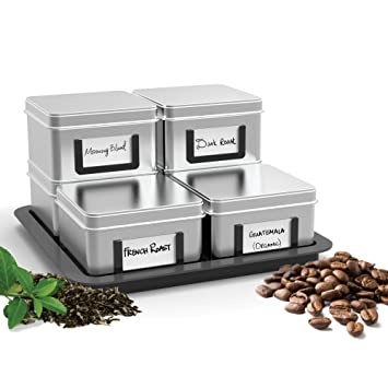 Amazoncom Mind Reader 7Piece Stax loose leaf TeaCoffee