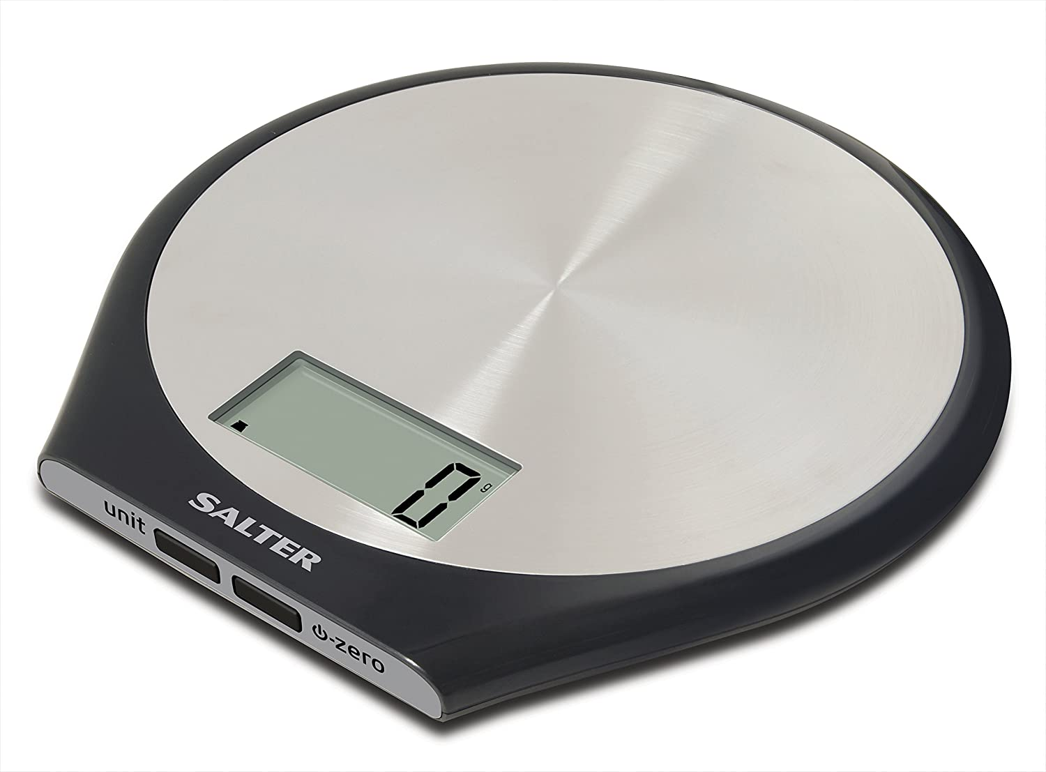 Salter Stainless Steel Electronic Digital Kitchen Scale, Black ...
