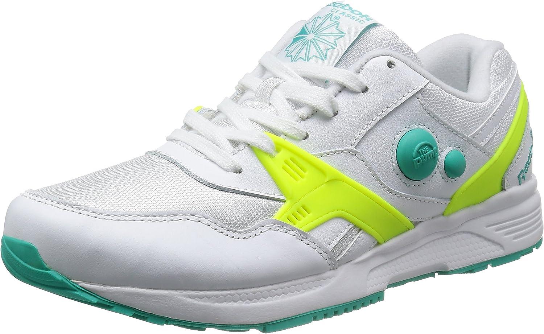 Reebok Pump Running Dual MU, atemporal azul blanco amarillo, color Marfil, talla 45,5 EU: Amazon.es: Zapatos y complementos