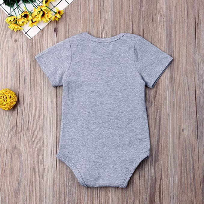 983ef9fa Amazon.com: Newborn Baby GOT My Mind ON My Mommy Funny Bodysuits Rompers  Outfits Blue: Clothing