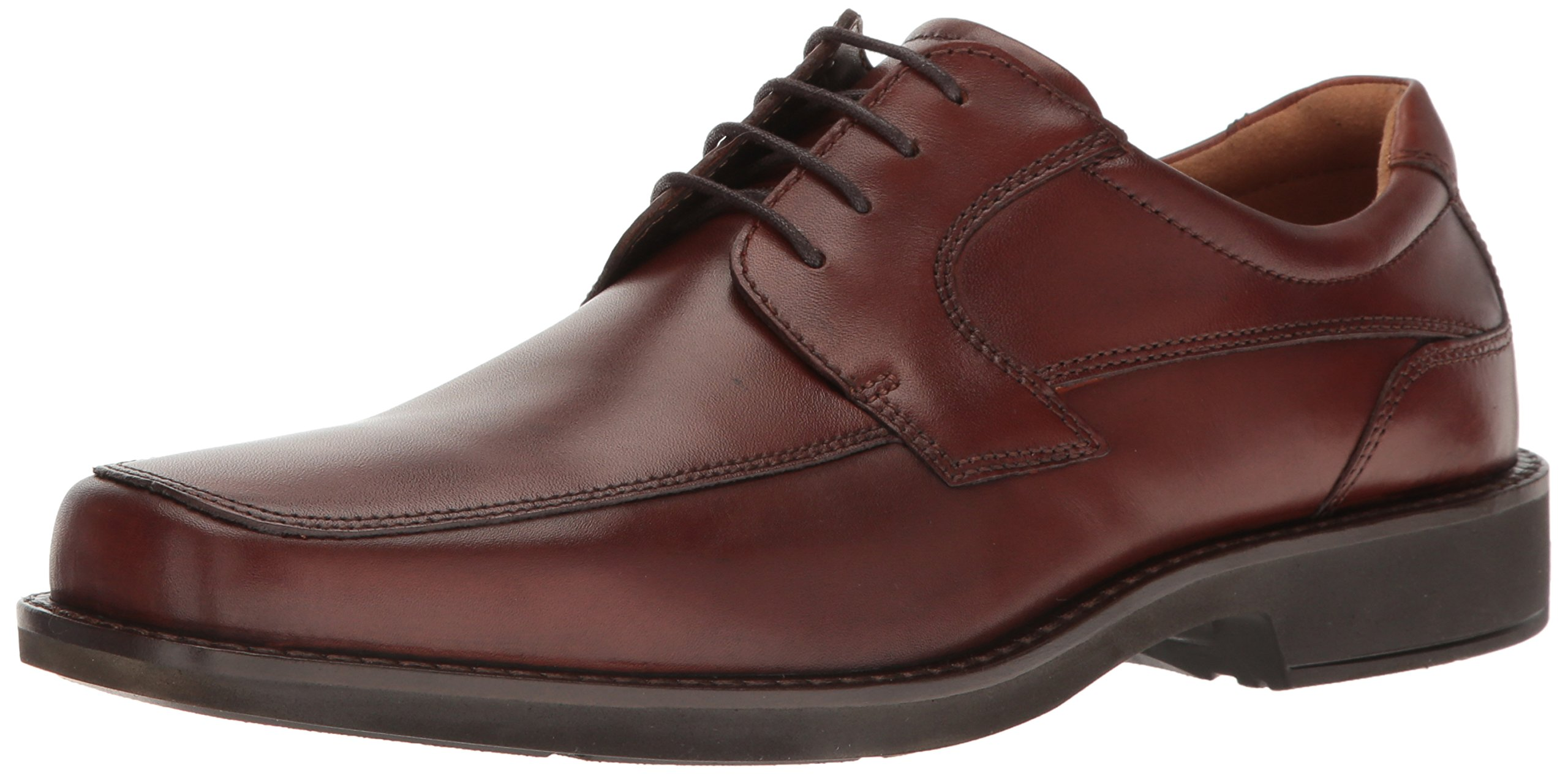 ECCO Men's Seattle Apron Toe Tie Oxford, Cognac/Brown, 45 EU/11-11.5 M US