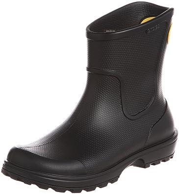 Crocs Mens Wellington Rain Boots (7 UK) (Black)