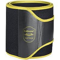 Waist Trainer, Fullmosa Waist Trimmer Ab Belt & Weight Loss & Slimming Fitness Belt,Lower Back/Lumbar/Abdominal Muscle Support,Stomach Fat Burner,Sauna Effect for Men and Women