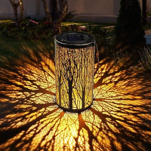 Linterna Solar Exterior Jardin GolWof Farol Solar Exterior Impermeable Luce de Linterna LED Luz Colgante Solar del Jardín Decoracion Exterior para Jardín Césped Patio al Aire Libre Partido Navidad: Amazon.es: Iluminación