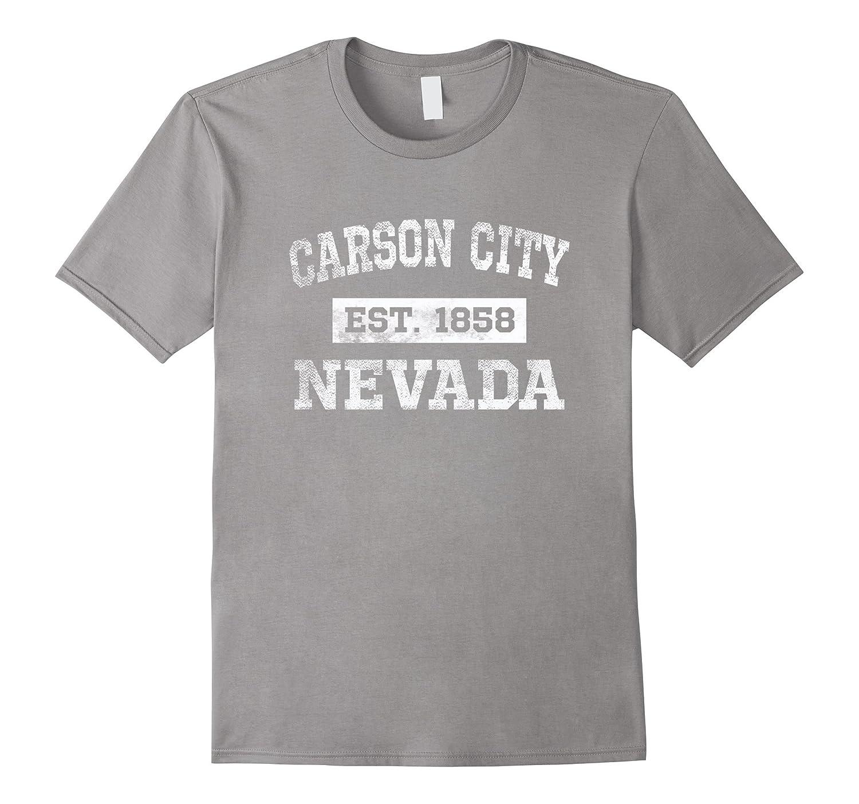 Carson City Nevada T Shirt Est 1858 Distressed-CD