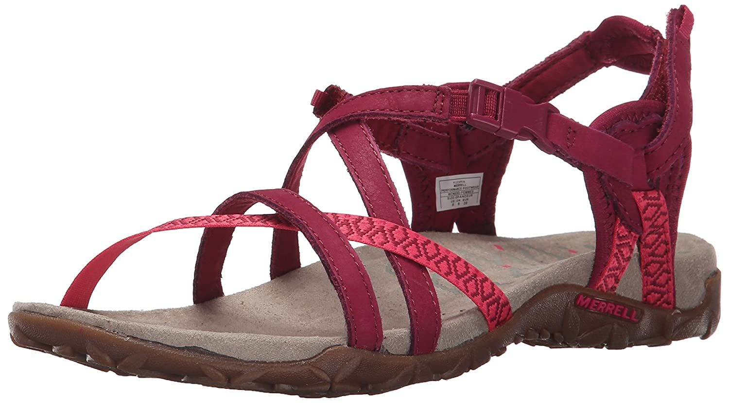 a239862eefc9 Merrell Women s Terran Lattice Ii Heel Sandals Pink (Fuchsia Fuchsia) 4 UK   Buy Online at Low Prices in India - Amazon.in
