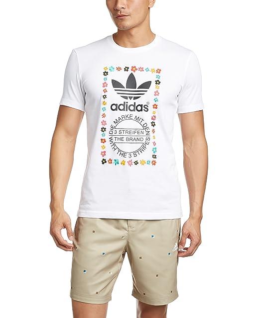668185f04426d adidas Originals Mens Pharrell Williams Graphic T-Shirt in White Black-  Short Sl  adidas Originals  Amazon.co.uk  Clothing